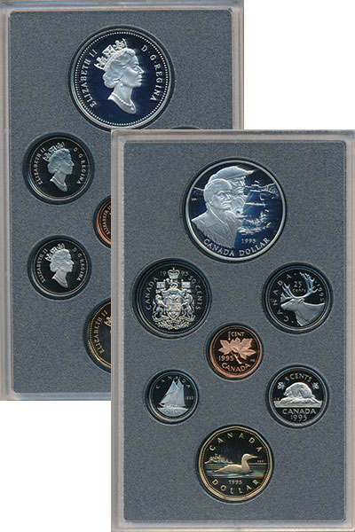 Изображение Подарочные монеты Северная Америка Канада Генри Гудзон 1995 Серебро Proof