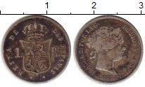 Изображение Монеты Испания 1 реал 1863 Серебро XF-