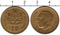 Изображение Монеты Африка Марокко 20 сантим 1974 Латунь XF