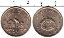 Изображение Монеты Уганда 50 центов 1974 Медно-никель XF