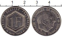 Изображение Монеты Европа Франция 1 франк 1988 Медно-никель XF