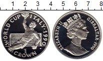 Изображение Монеты Гибралтар 1 крона 1990 Серебро Proof-