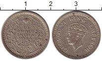 Изображение Монеты Индия 1/4 рупии 1944 Серебро XF- Георг VI