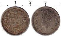 Изображение Монеты Индия 1/4 рупии 1942 Серебро VF Георг VI