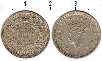 Изображение Монеты Азия Индия 1/4 рупии 1945 Серебро XF-