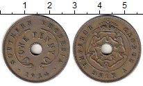 Изображение Монеты Великобритания Родезия 1 пенни 1934 Медно-никель VF