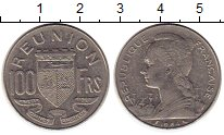 Изображение Монеты Франция Реюньон 100 франков 1964 Медно-никель XF