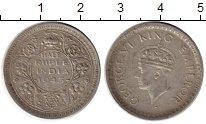 Изображение Монеты Азия Индия 1/2 рупии 1943 Серебро VF