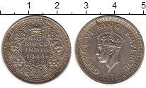 Изображение Монеты Индия 1/2 рупии 1944 Серебро VF