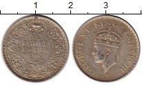 Изображение Монеты Индия 1/4 рупии 1940 Серебро XF