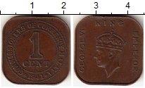 Изображение Монеты Малайя 1 цент 1941 Бронза XF