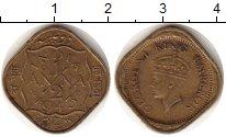 Изображение Монеты Индия 1/2 анны 1943 Латунь XF Георг VI