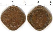 Изображение Монеты Азия Индия 1/2 анны 1944 Латунь VF