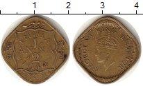 Изображение Монеты Азия Индия 1/2 анны 1944 Латунь XF