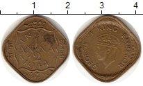 Изображение Монеты Индия 1/2 анны 1944 Латунь VF Георг VI
