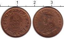 Изображение Монеты Индия 1/12 анны 1932 Латунь VF Георг V