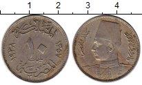 Изображение Монеты Африка Египет 10 миллим 1938 Медно-никель XF-