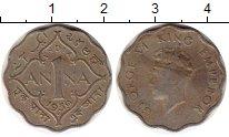 Изображение Монеты Индия 1 анна 1939 Медно-никель VF Георг VI