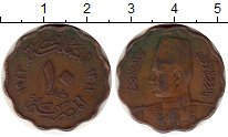 Изображение Монеты Африка Египет 10 миллим 1943 Бронза VF