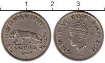 Изображение Монеты Индия 1/4 анны 1946 Медно-никель XF