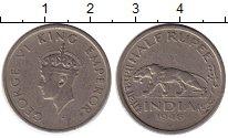 Изображение Монеты Индия 1/2 рупии 1946 Медно-никель VF