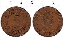 Изображение Монеты Маврикий 5 центов 1957 Бронза XF