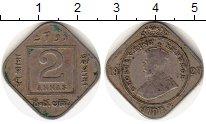 Изображение Монеты Индия 2 анны 1927 Медно-никель VF Георг V