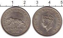 Изображение Монеты Индия 1/2 рупии 1946 Медно-никель XF Георг VI
