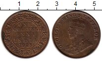 Изображение Монеты Индия 1/4 анны 1925 Бронза XF Георг V