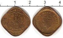 Изображение Монеты Индия 1/2 анны 1944 Латунь XF Георг VI