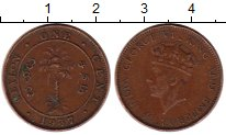 Изображение Монеты Цейлон 1 цент 1937 Бронза VF