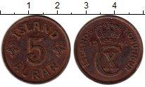 Изображение Монеты Европа Исландия 5 аурар 1942 Бронза XF