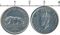 Изображение Монеты Азия Индия 1/4 рупии 1947 Медно-никель XF