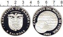 Изображение Монеты Северная Америка Панама 5 бальбоа 1982 Серебро Proof
