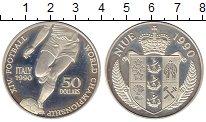 Изображение Монеты Новая Зеландия Ниуэ 50 долларов 1990 Серебро Proof-