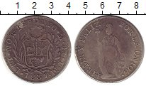 Изображение Монеты Перу 8 реалов 1837 Серебро VF