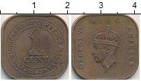 Изображение Монеты Малайя 1 цент 1943 Латунь XF Георг VI