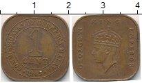 Изображение Монеты Малайя 1 цент 1945 Бронза XF Георг VI