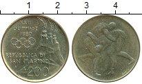 Изображение Монеты Сан-Марино 200 лир 1980 Латунь UNC-