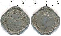 Изображение Монеты Великобритания Британская Индия 2 анны 1939 Медно-никель VF