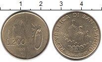 Изображение Монеты Европа Сан-Марино 200 лир 1993 Латунь UNC-