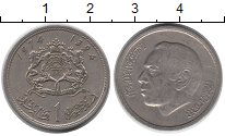 Изображение Монеты Марокко 1 дирхам 1974 Медно-никель VF