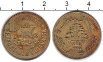 Изображение Монеты Ливан 10 пиастр 1955 Латунь VF