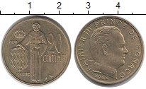 Изображение Монеты Монако 20 сентим 1962 Латунь XF