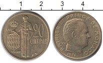 Изображение Монеты Европа Монако 20 сентим 1962 Латунь XF