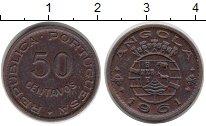 Изображение Монеты Ангола 50 сентаво 1961 Медно-никель VF