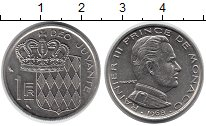 Изображение Монеты Монако 1 франк 1968 Медно-никель UNC- Раньер III