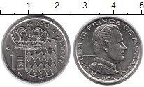 Изображение Монеты Европа Монако 1 франк 1968 Медно-никель UNC-