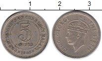 Изображение Монеты Малайя 5 центов 1948 Медно-никель VF Георг VI