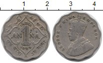 Изображение Монеты Индия 1 анна 1929 Медно-никель VF Георг V